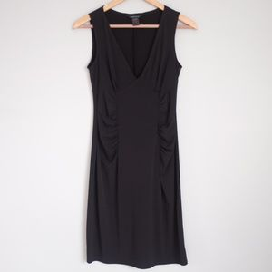 Moda International Black Ruched Mini Dress